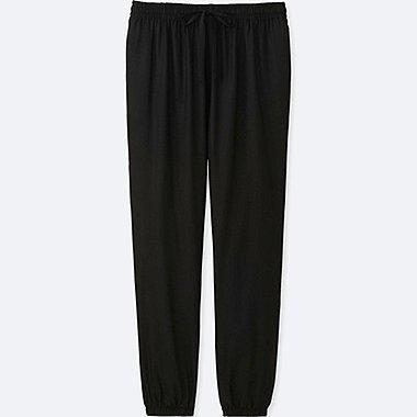 WOMEN DRAPE PANTS, BLACK, medium
