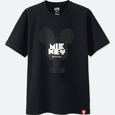 MEN MICKEY 100 SHORT-SLEEVE GRAPHIC T-SHIRT, BLACK, medium