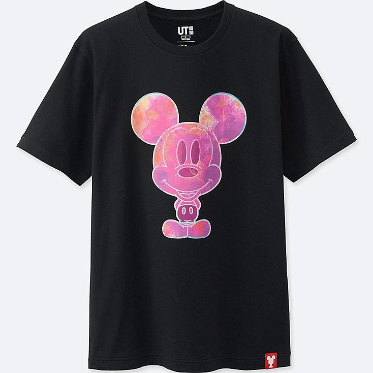 MEN MICKEY 100 SHORT-SLEEVE GRAPHIC T-SHIRT, BLACK, large