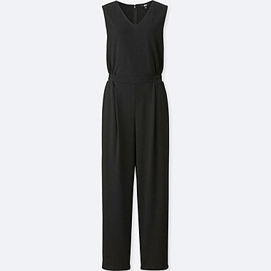 WOMEN CUT & SEWN V NECK JUMPSUIT