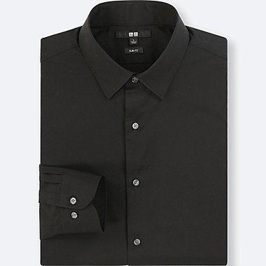 MEN EASY CARE BROADCLOTH STRETCH SLIM FIT SHIRT (REGULAR COLLAR)