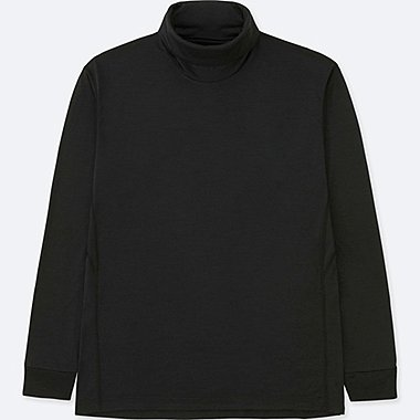 MEN WOOL BLENDED TURTLE NECK LONG SLEEVE T-SHIRT
