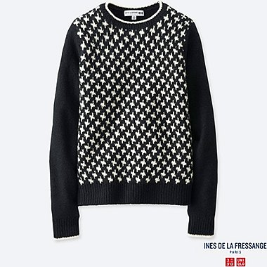 WOMEN SLAB JACQUARD SWEATER
