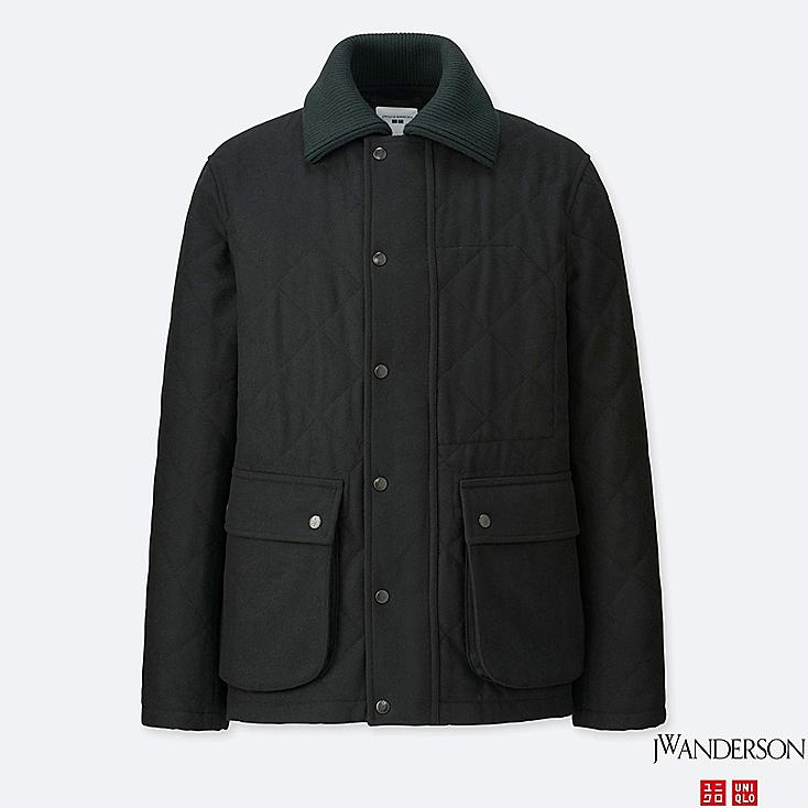 MEN J.W.ANDERSON WOOL BLENDED QUILTED JACKET