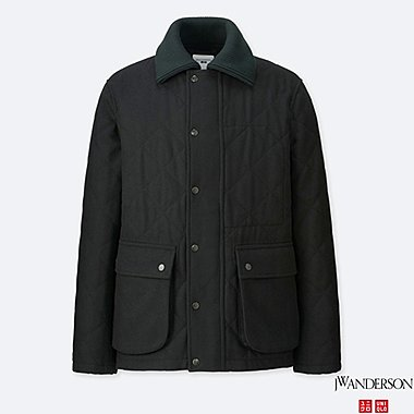 MEN J.W.ANDERSON WOOL-BLEND QUILTED JACKET