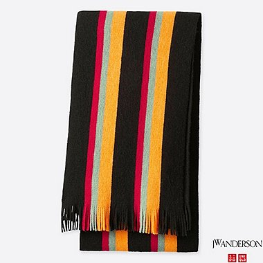 JWA STRIPED SCHOOL SCARF, BLACK, medium