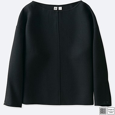 WOMEN UNIQLO U DOUBLE FACE LONG SLEEVE BLOUSE