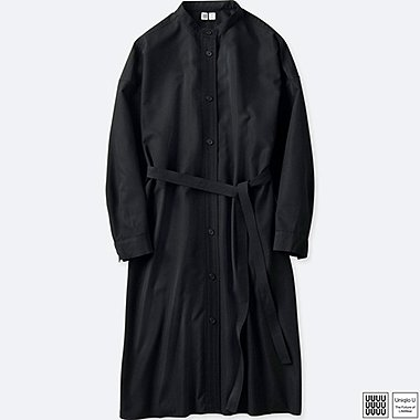 WOMEN UNIQLO U STAND COLLAR LONG SLEEVE SHIRT DRESS