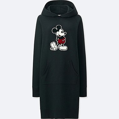 WOMEN MICKEY STANDS SWEAT LONG SLEEVE DRESS
