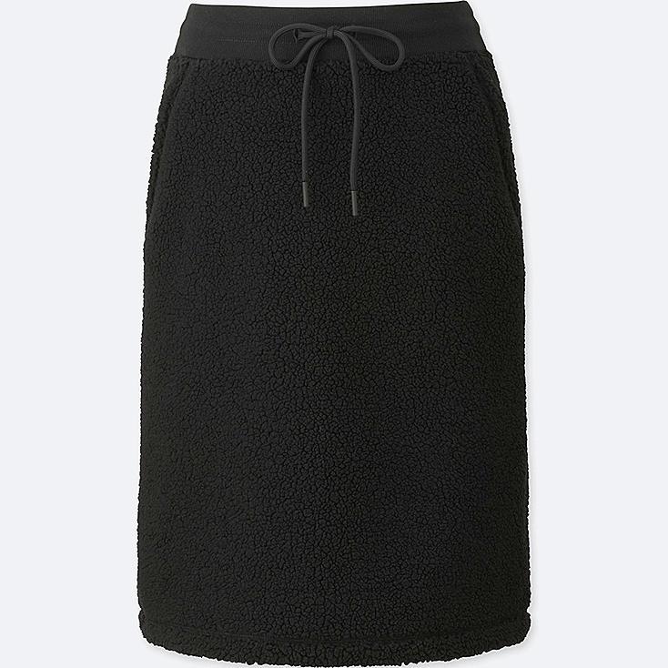 blocktech fleece pile lined skirt uniqlo