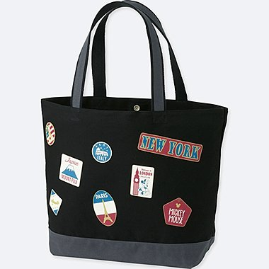 MICKEY TRAVELS TOTE BAG, BLACK, medium