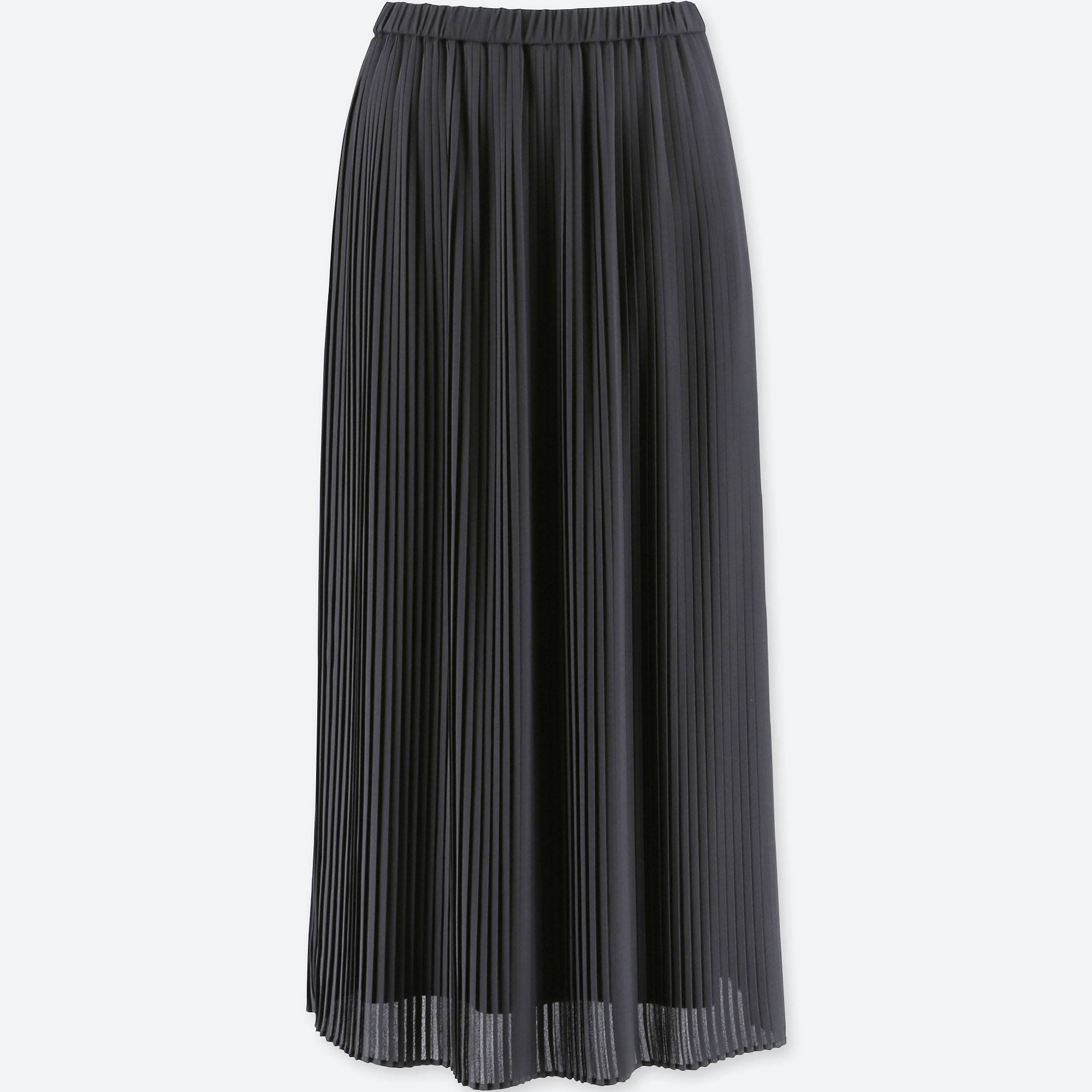 black high waisted pleated skirt image collections