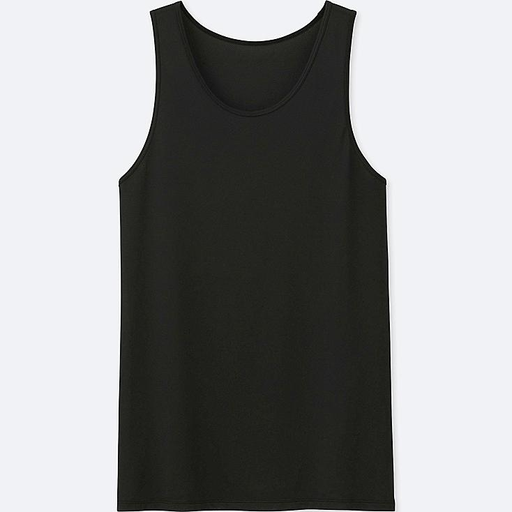 MEN AIRism MESH TANK TOP, BLACK, large