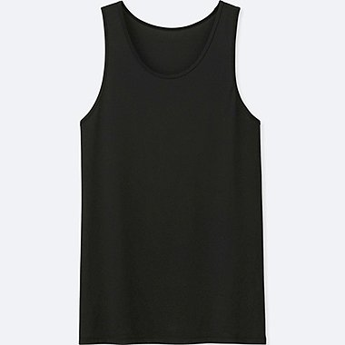 MEN AIRism MESH TANK TOP, BLACK, medium