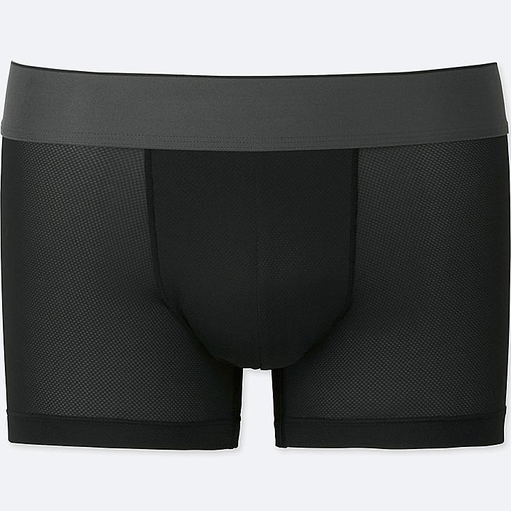 MEN AIRism MESH LOW-RISE BOXER BRIEFS, BLACK, large