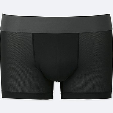 MEN AIRism MESH LOW-RISE BOXER BRIEFS, BLACK, medium