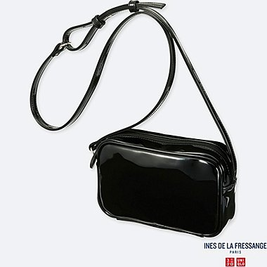 WOMEN INES ENAMEL SHOULDER BAG
