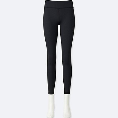 WOMEN AIRism ANKLE-LENGTH LEGGINGS, BLACK, medium