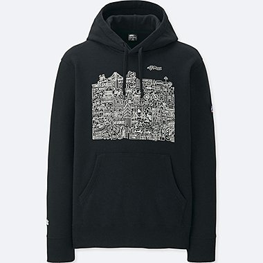 MEN SPRZ NY HOODED SWEATSHIRT (TIMOTHY GOODMAN), BLACK, medium