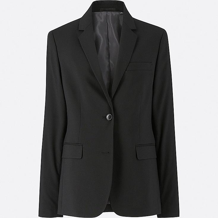 WOMEN STRETCH JACKET (ONLINE EXCLUSIVE), BLACK, large