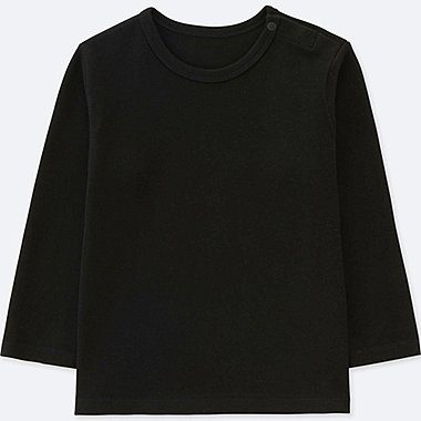 TODDLER CREWNECK LONG-SLEEVE T-SHIRT, BLACK, medium