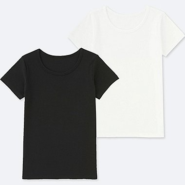 KIDS COTTON INNER U-NECK (SET OF 2), BLACK, medium