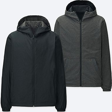 MEN REVERSIBLE PARKA, BLACK, medium