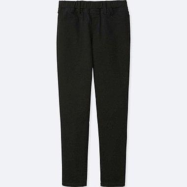 GIRLS ULTRA STRETCH LEGGINGS PANTS, BLACK, medium
