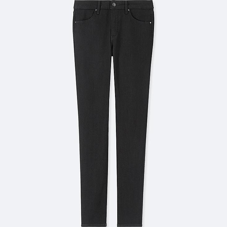 WOMEN HIGH-RISE SLIM-FIT JEANS (ONLINE EXCLUSIVE), BLACK, large
