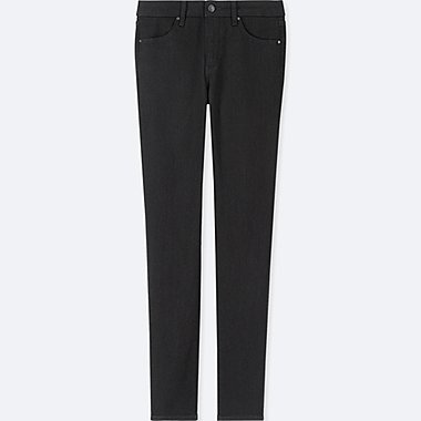 WOMEN HIGH-RISE SLIM-FIT JEANS, BLACK, medium