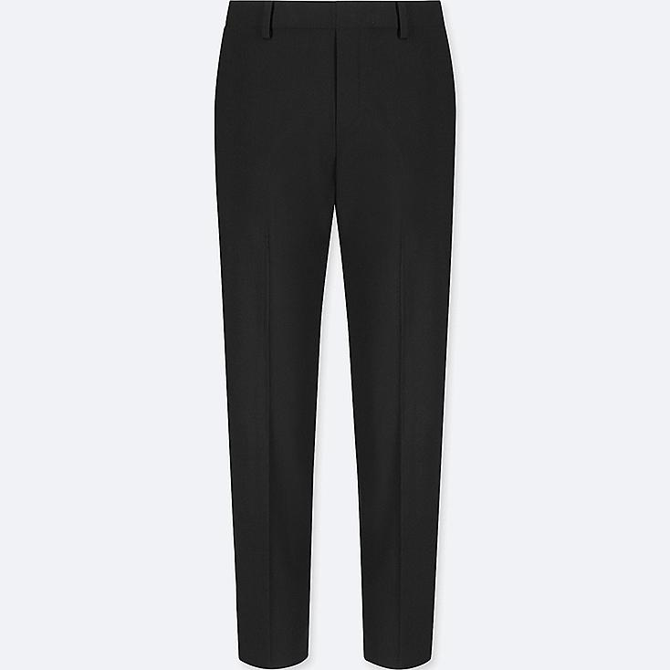 WOMEN SMART STYLE ANKLE LENGTH PANTS, BLACK, large
