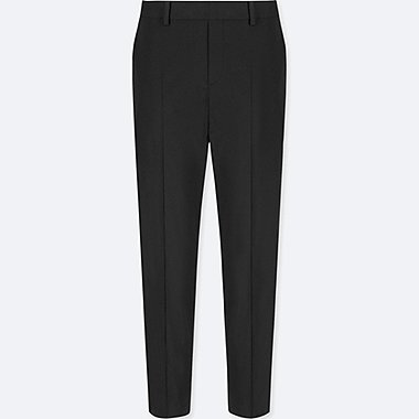 WOMEN Satin Smart Ankle length Trousers