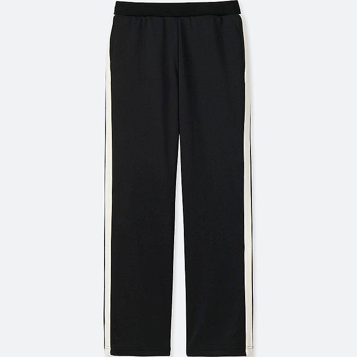 WOMEN TRICOT JERSEY PANTS, BLACK, large