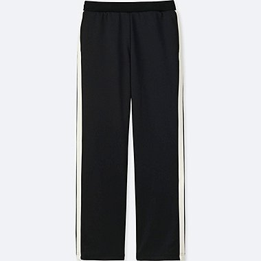 WOMEN TRICOT JERSEY PANTS, BLACK, medium