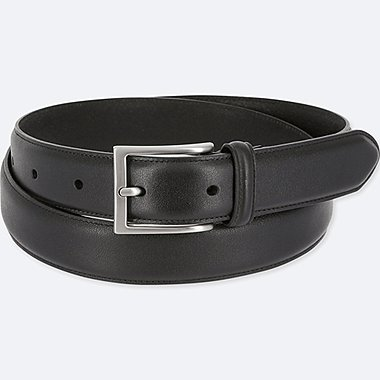 MEN LEATHER STITCHED BELT