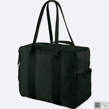 U SQUARE BOSTON BAG, BLACK, medium