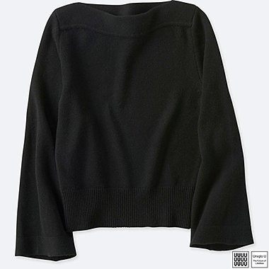 WOMEN UNIQLO U CASHMERE BLEND BOAT NECK SWEATER
