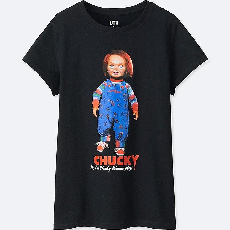 WOMEN Back to the 80's SHORT-SLEEVE GRAPHIC T-SHIRT (CHUCKY) | Tuggl