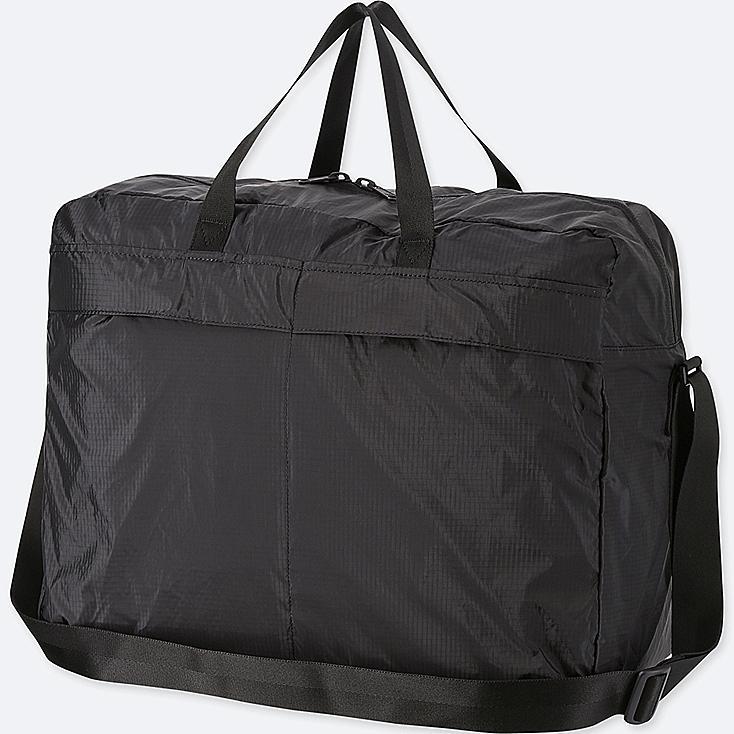 POCKETABLE BOSTON BAG, BLACK, large