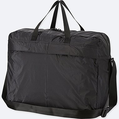 POCKETABLE BOSTON BAG, BLACK, medium