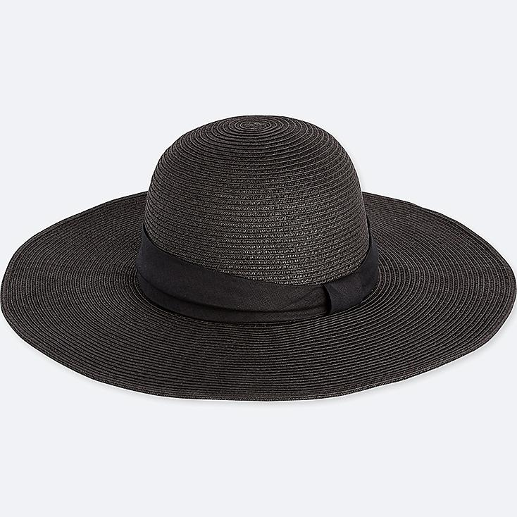 Women Paper Wide Brim Hat by Uniqlo