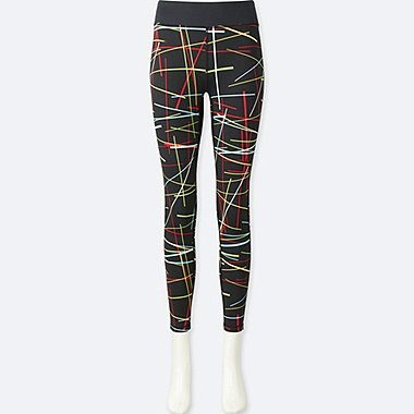 WOMEN SPRZ NY AIRism LEGGINGS (NIKO LUOMA), BLACK, medium