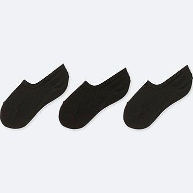 WOMEN MESH FOOTSIES (3 PAIRS), BLACK, medium