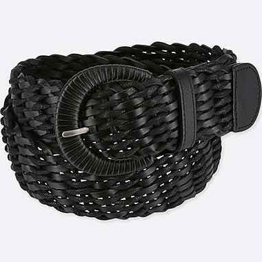 WOMEN WIDE WOVEN BELT
