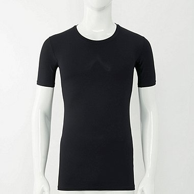 MEN PERFORMANCE SUPPORT SHORT-SLEEVE T-SHIRT, BLACK, medium