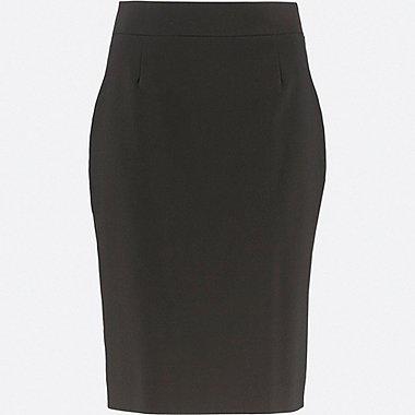 WOMEN STRETCH SKIRT (ONLINE EXCLUSIVE), BLACK, medium