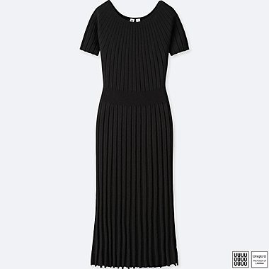 WOMEN UNIQLO U 100% COTTON 3D Crew Neck Balloon SHORT SLEEVE Dress