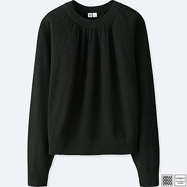 WOMEN UNIQLO U COTTON LINEN CREW NECK SWEATER