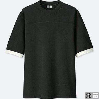 MEN U COLOR BLOCK SHORT-SLEEVE T-SHIRT, BLACK, medium