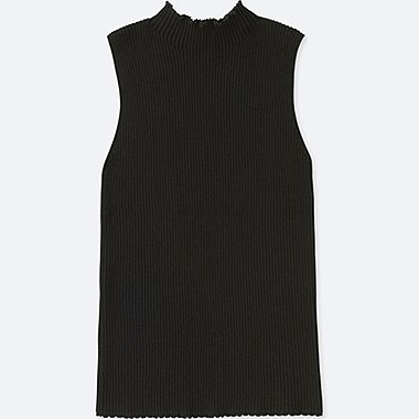 WOMEN SUPIMA COTTON SLEEVELESS SWEATER